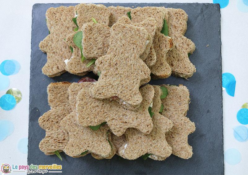 Sandwich en forme d'ours