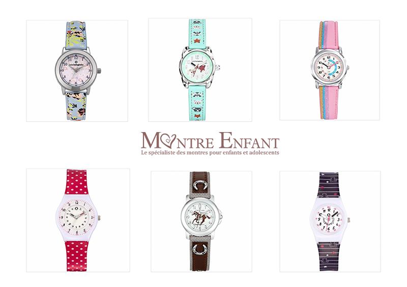 sélection de montres pour apprendre à lire l'heure