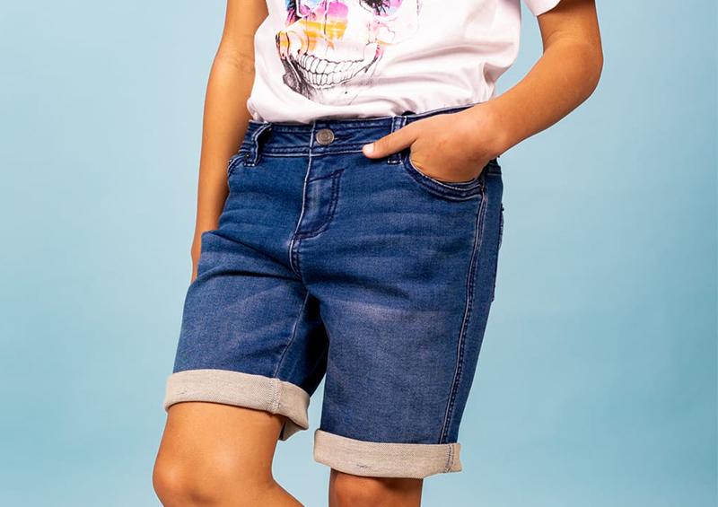 Short en jean pour les garçons