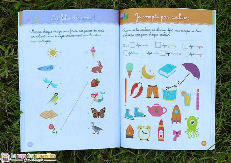 Son et dénombrement cahier activités Montessori