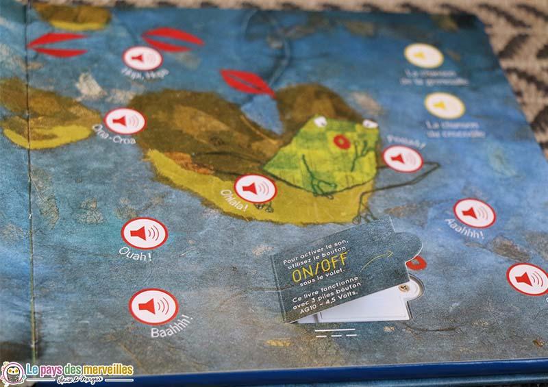 Puces sonores du livre la grenouille à grande bouche