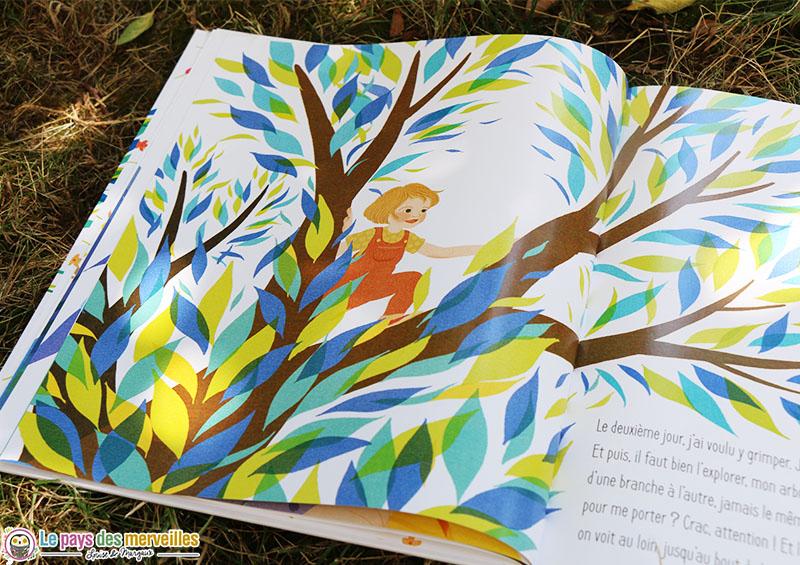 illustration d'un arbre avec des feuilles colorées