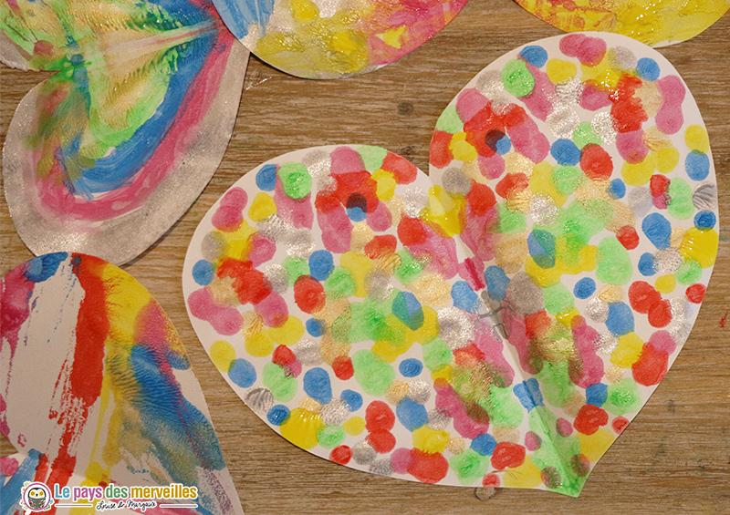 Coeur coloré symétrique