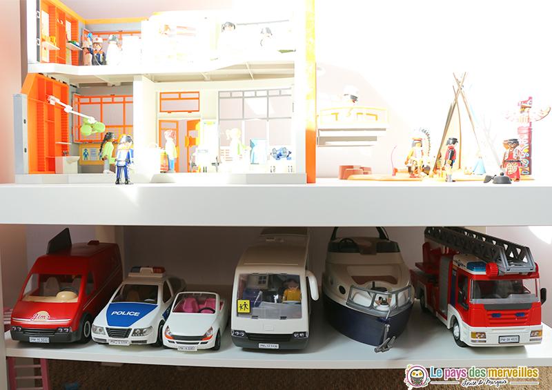 Rangement des véhicules Playmobil
