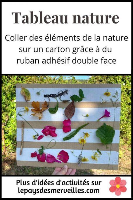 tableau nature avec du ruban adhésif double face