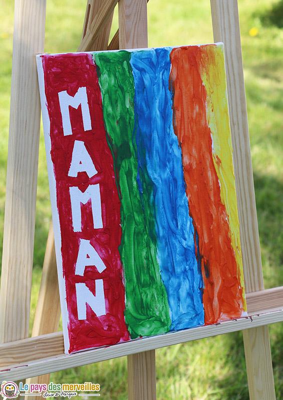 Activité peinture pour la fête des mères