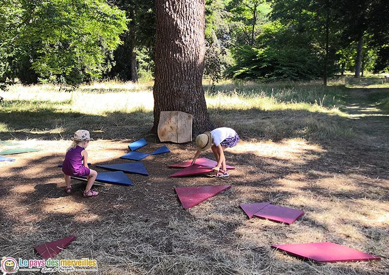 Tangram géant en bois