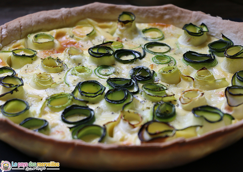 Tarte courgettes fromage