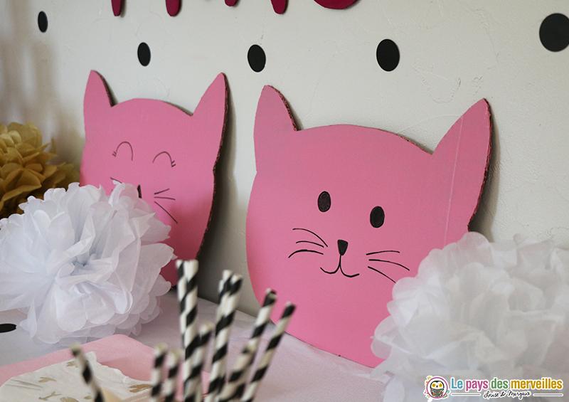 Tête de chat en carton