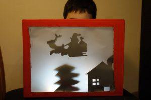 Théàtre d'ombres sur le thème de Noël