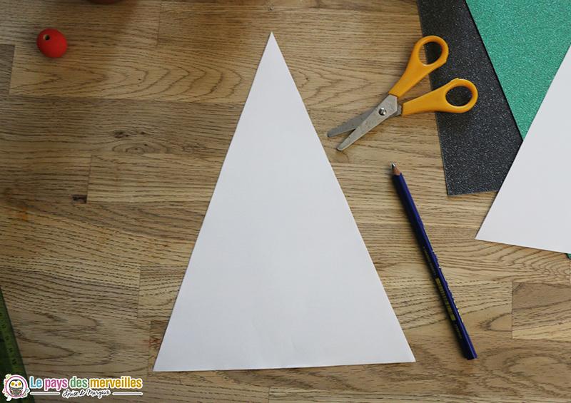 Triangle en papier