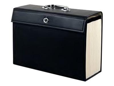 valise trieur classeur noir