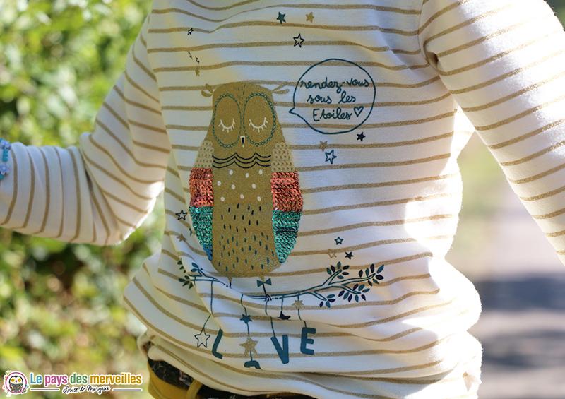 tee-shirt chouette La Compagnie des Petits