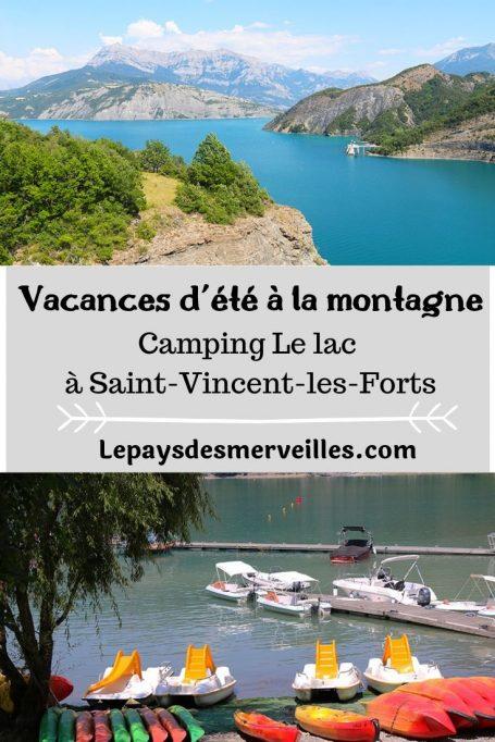 Vacances d'été en famille à la montagne au pied du lac de Serre-Ponçon