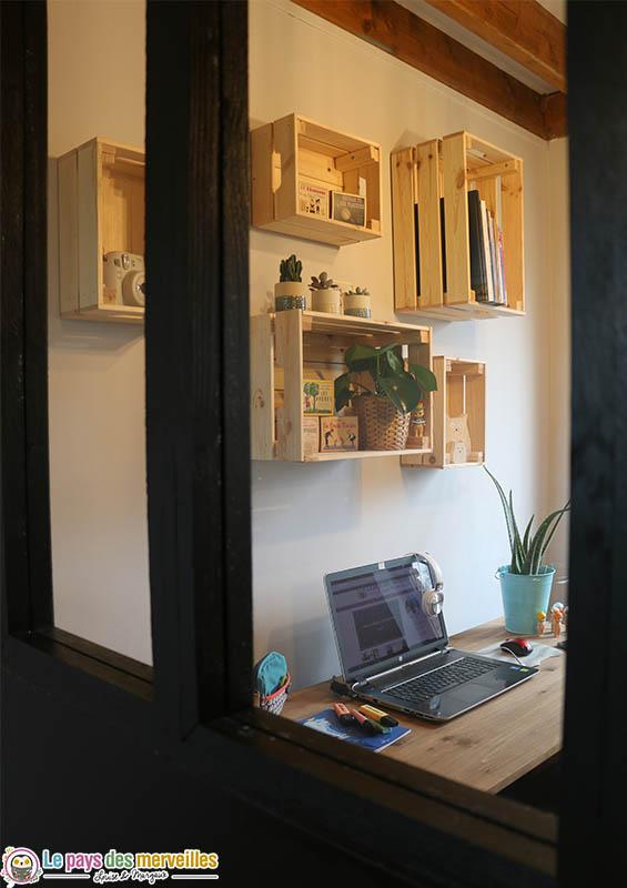 verrière pour séparation d'un bureau et d'une cuisine