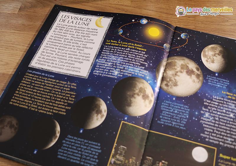 Les différentes étapes de la Lune