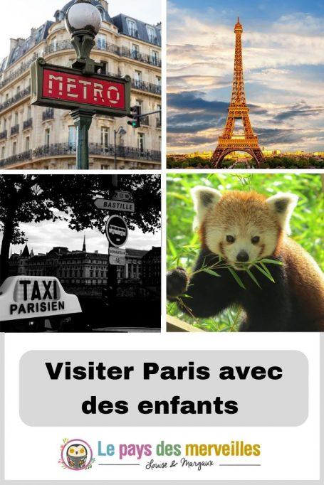 Visiter Paris avec les enfants