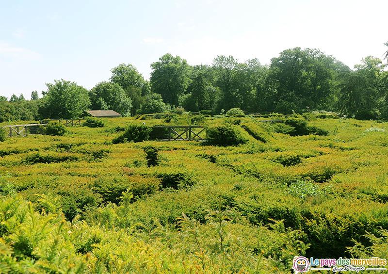 Vue sur le labyrinthe de thoiry
